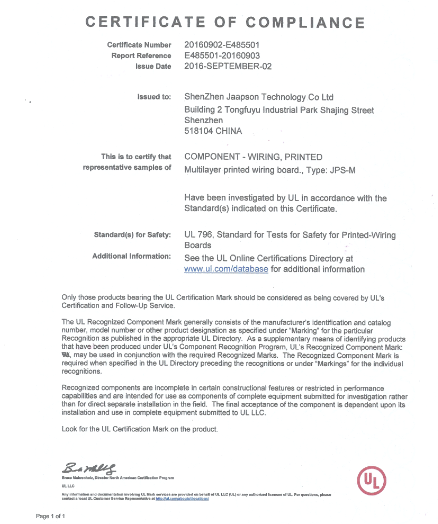 Jaapson PCB UL Certification-Company News-Jaapson blog and resource ...